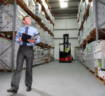 pallet rack inspection in a warehouse