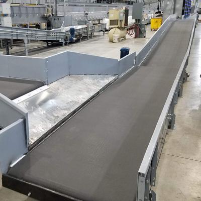 HSS type wide belt parcel handling conveyor