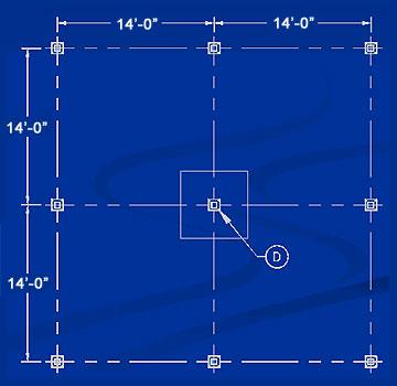 layout of a mezzanine column