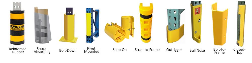 Pallet rack frame protectors