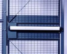 Pushbar for a driver security cage door.